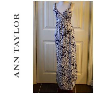 Ann Taylor Purple White Maxi Dress Size S